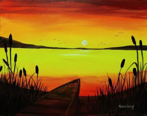 sunset painting kevin