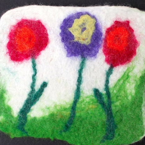 wool felted coaster